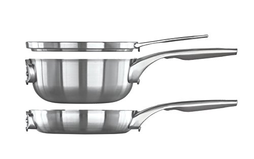 Calphalon Premier Space-Saving Stainless Steel Pots and Pans, 10-Piece Cookware Set