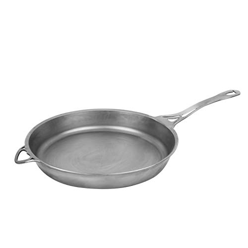 SOLIDTEKNICS US-ION 12-inch Wrought Iron Skillet –1/8-inch Seamless Cookware, Raw Finish, Made in the USA