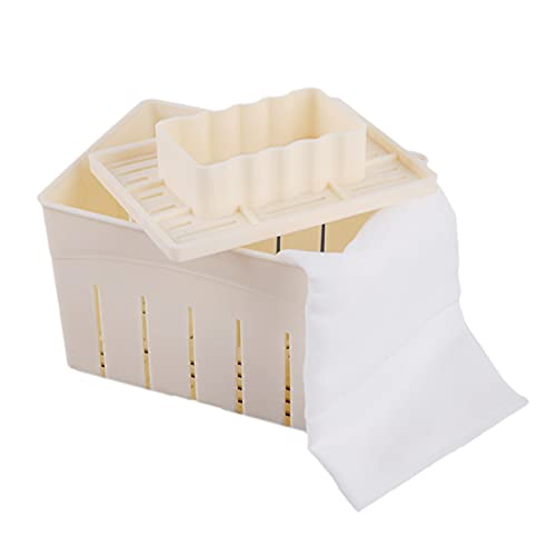 Mangocore Plastic Tofu Press Mould DIY Homemade Tofu Maker Pressing Mold Kit + Cheese Cloth Kitchen Tool Tofu Mold