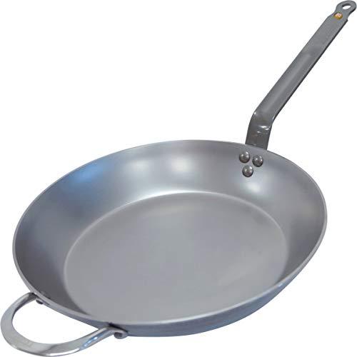 De Buyer MINERAL B Round Carbon Steel Fry Pan 12.5-Inch -