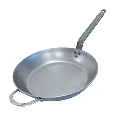 de Buyer - Mineral B Frying Pan - Nonstick Pan - Carbon and Stainless Steel - Induction-ready - 12.5'