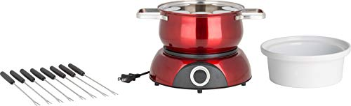 Trudeau Electric Scarlet Fondue Pot, 84 oz, Red