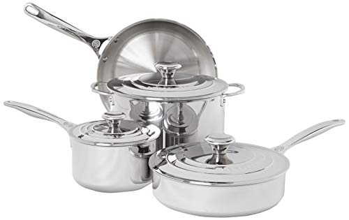Le Creuset Tri-Ply Stainless Steel Cookware Set, 7 pc.