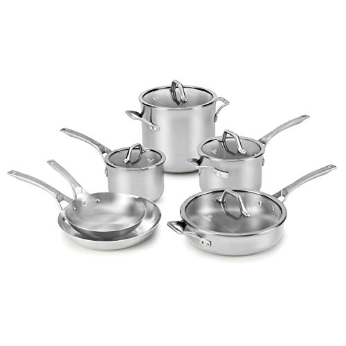 Calphalon Signature Stainless Steel 10-Piece Cookware Set