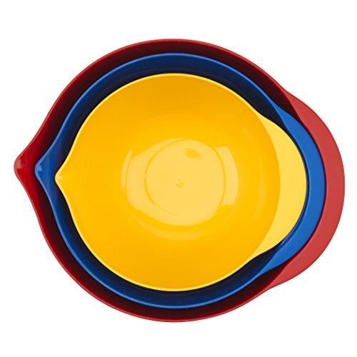 Good Cook 3-Piece Plastic Mixing Bowl Set