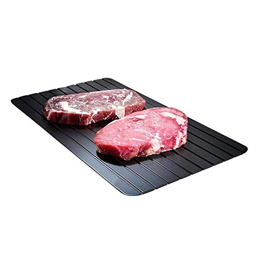 Quadow Defrost Tray,Easy Thaw Tray Defrost Food Quickly and Safely,No Power,No Chemistry (11.6x8.2 inch)