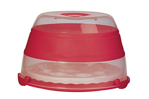 Progressive International BCC-1AZ Cupcake Carrier, 24, 2 Layer, Red
