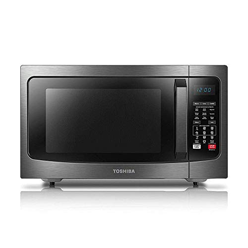 Toshiba EC042A5C-BS Countertop Microwave Oven with Convection, Smart Sensor, Sound On/Off Function and LCD Display, 1.5 Cu Ft, Black Stainless Steel