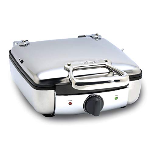 All-Clad 2100046968 99010GT Stainless Steel Belgian Waffle Maker with 7 Browning Settings, 4-Square, Silver