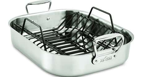 All Clad E752C264 Stainless Steel Dishwasher Safe Nonstick Roaster