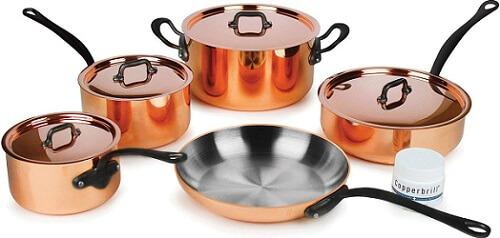 MauvielM'heritage M250C 9-piece 2.5-mm Copper Cookware Set