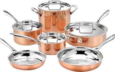Cuisinart 10pc Tri-Ply Cooper Cookware Set