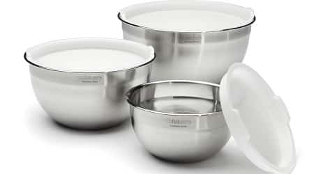 Cuisinart CTG-00-SMB 3-Piece Stainless Steel Mixing Bowl Set