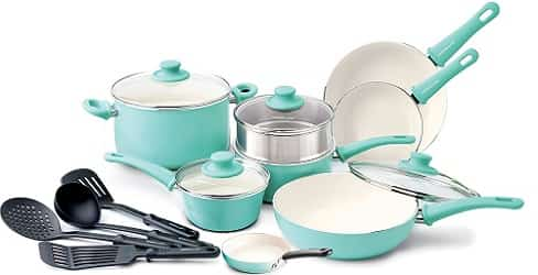 GreenLife Soft Grip 16pc Ceramic Non-Stick Cookware
