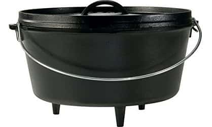 Lodge L10DCO3 Cast Iron Deep Camp Dutch Oven