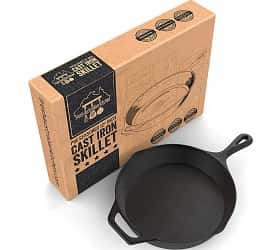 Pre-Seasoned Cast Iron Skillet 12.5 Inch by Fresh Australian Kitchen