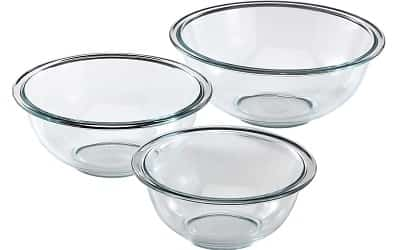 Pyrex Glass 3-Piece Mixing Bowl Set