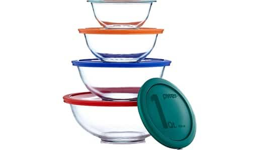 Pyrex Smart Essentials 8-Piece Clear Mixing Bowls Set