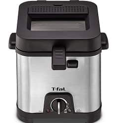 T-fal FF492D Stainless Steel 1.2-Liter Oil Capacity Adjustable Temperature Mini Deep Fryer