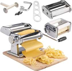 VonShef 3 in 1 Stainless Steel Pasta Roller Maker Machine