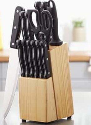 AmazonBasics 14-pc High Carbon Stainless Steel Knife Set