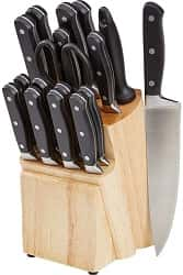 AmazonBasics 18-pc Premium Knife Block Set
