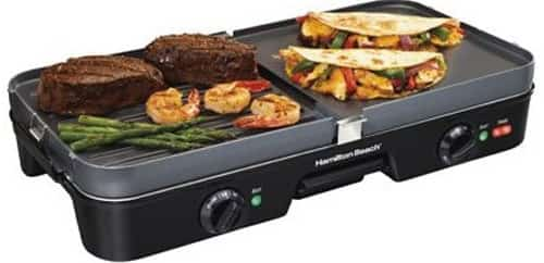 Hamilton Beach (38546) 3 in 1 Electric Smokeless Indoor Grill & Griddle