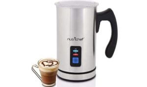 NutriChef Upgraded Dual Electric Milk Frother