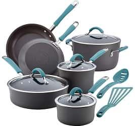 Rachael Ray Cucina Hard-Anodized Aluminum Nonstick Cookware Set