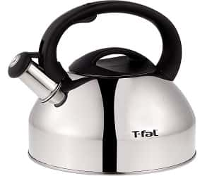 T-fal C76220 Specialty Stainless Steel Dishwasher Safe Whistling Coffee and Tea Kettle