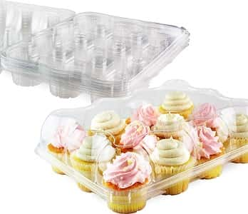Chefible Premium 12 Cupcake Carrier Container Box