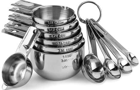 HudsonEssentials Stainless Steel Measuring Cups