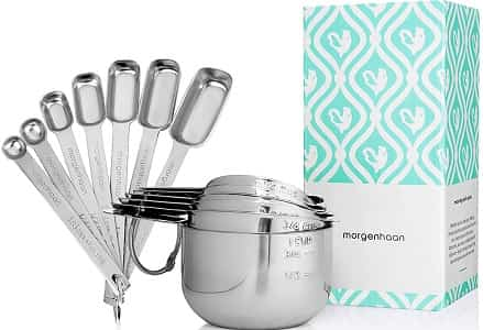 StainlessSteel Measuring Cups and Spoons