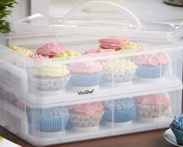 VonShef Snap and Stack Cupcake Storage Carrier