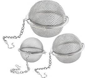 Lyxa SR 3 Pack Piece Set Stainless Steel Mesh Tea Ball Tea Infuser