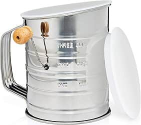 Natizo Stainless Steel 3-Cup Flour Sifter