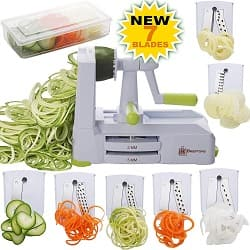 Brieftons 7-Blade Vegetable Spiral Slicer