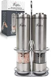 Flafster Kitchen Battery Operated Salt and Pepper Grinder Set