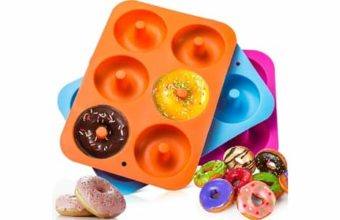 3-Pack Silicone Donut Baking Pan