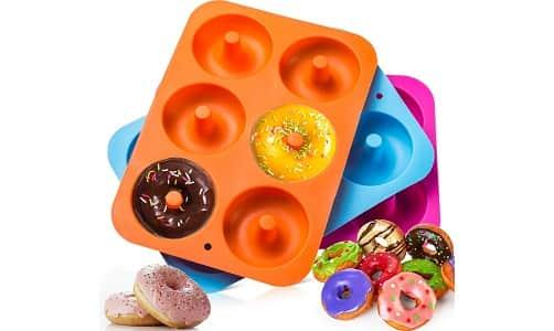 3-Pack Silicone Donut Baking Pan