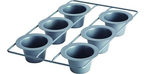 Anolon 59181 6-Cup Steel Popover Pan