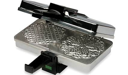 CucinaPro Polished Pizzelle Maker