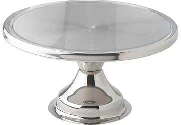 Winco CKS-13 Stainless Steel Round Cake Stand
