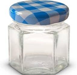 1.5 oz Hexagon Mini Glass Jars