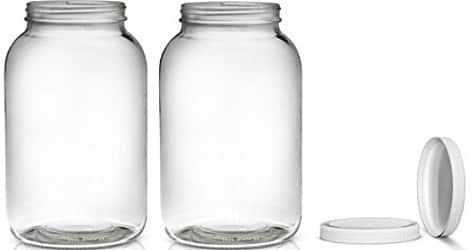 2 Pack ~ Wide Mouth 1 Gallon Clear Glass Jar