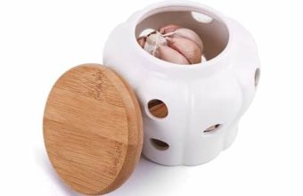 Garlic Keeper Vented Ceramic Storage Container