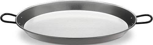 Polished Steel Valencian paella pan