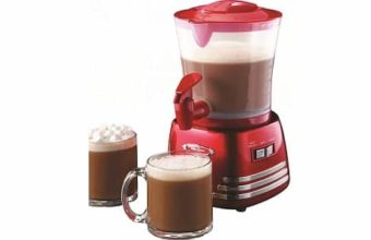 Nostalgia HCM700RETRORED Retro 32-Ounce Hot Chocolate Maker
