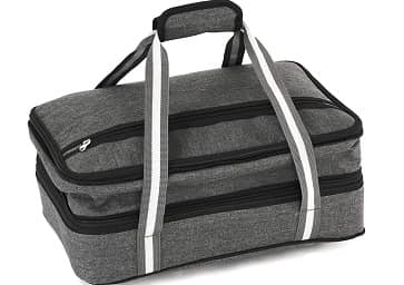 Insulated Expandable Double Casserole Carrier