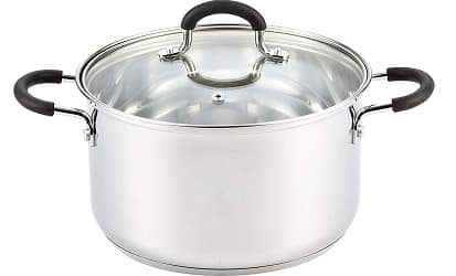 Cook N Home Stainless Steel Lid 5-Quart Stockpot